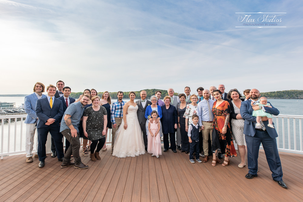 group photo on the deck outside the porcupine room