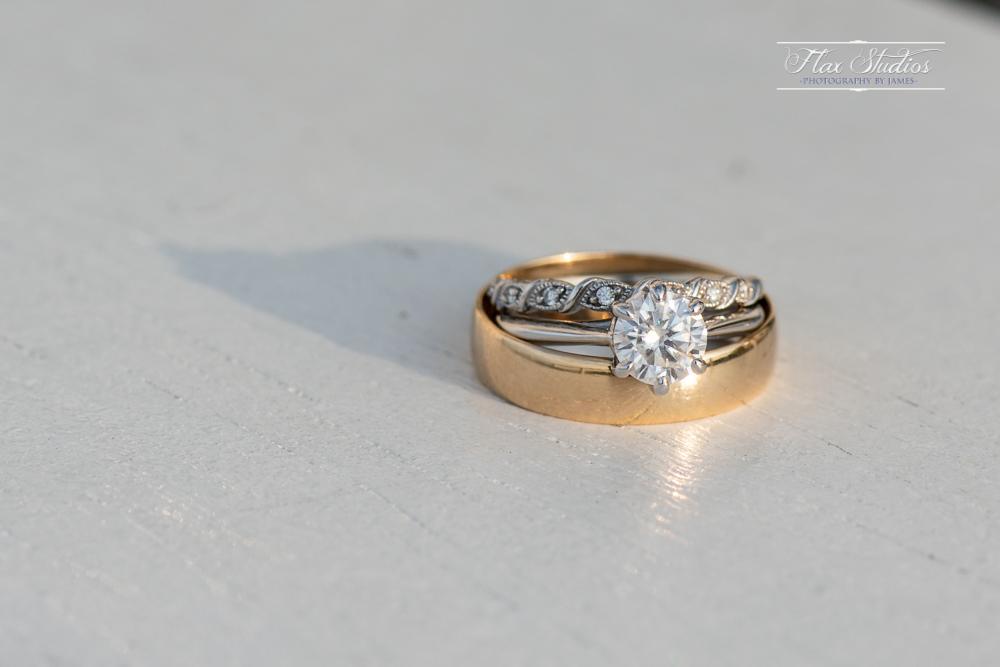 Up close macro wedding ring shot