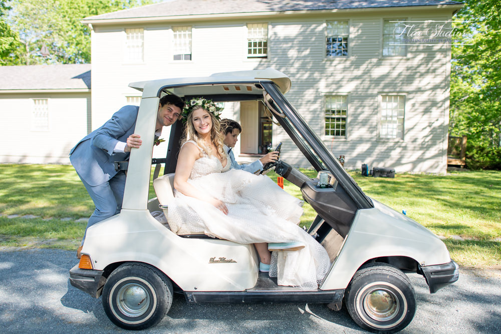 Golf Cart Wedding Transportation