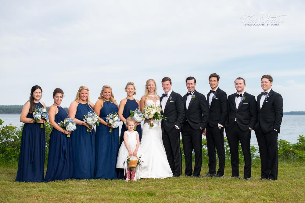 Bridal party portraits North Haven