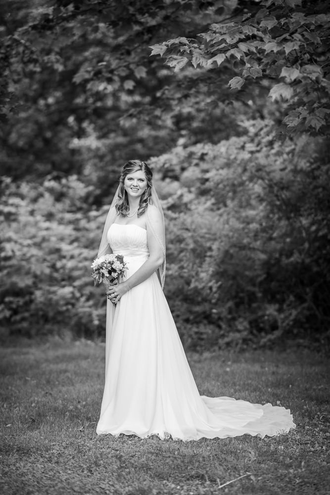 Black and white brides portrait