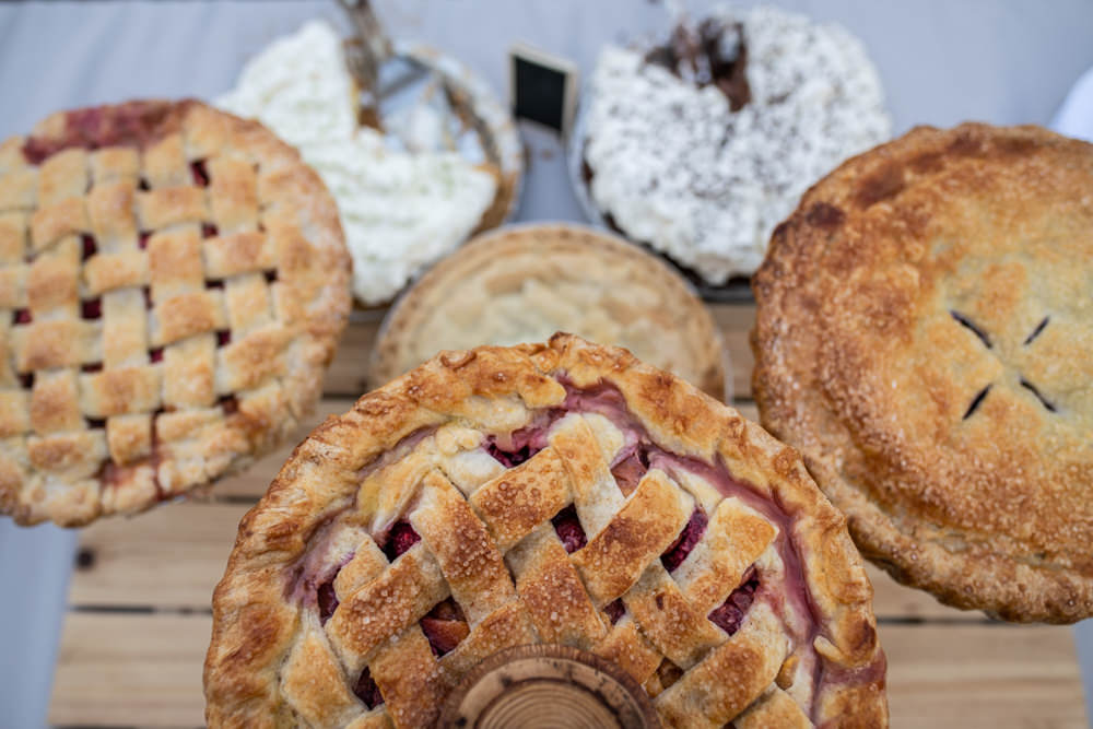 wedding day pies instead of cake