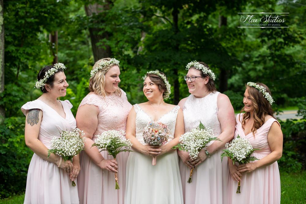 bridesmaids photos caswell farms