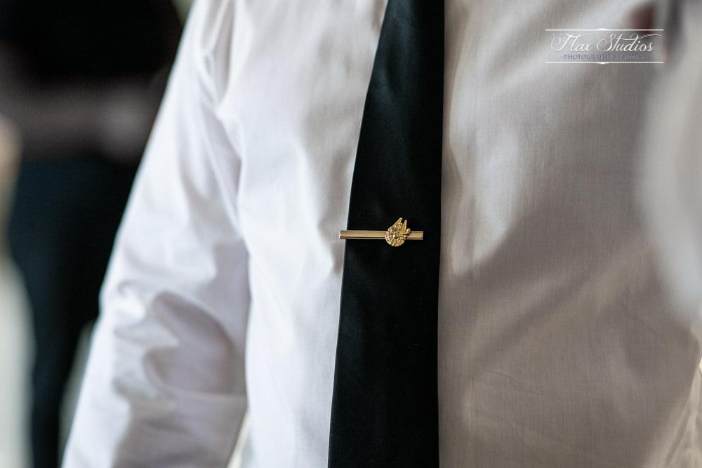 millennium falcon wedding tie clip