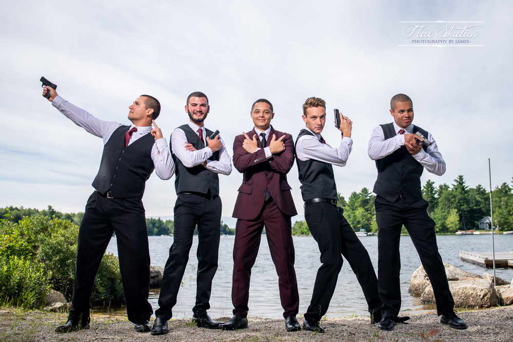 wedding photos with firearms