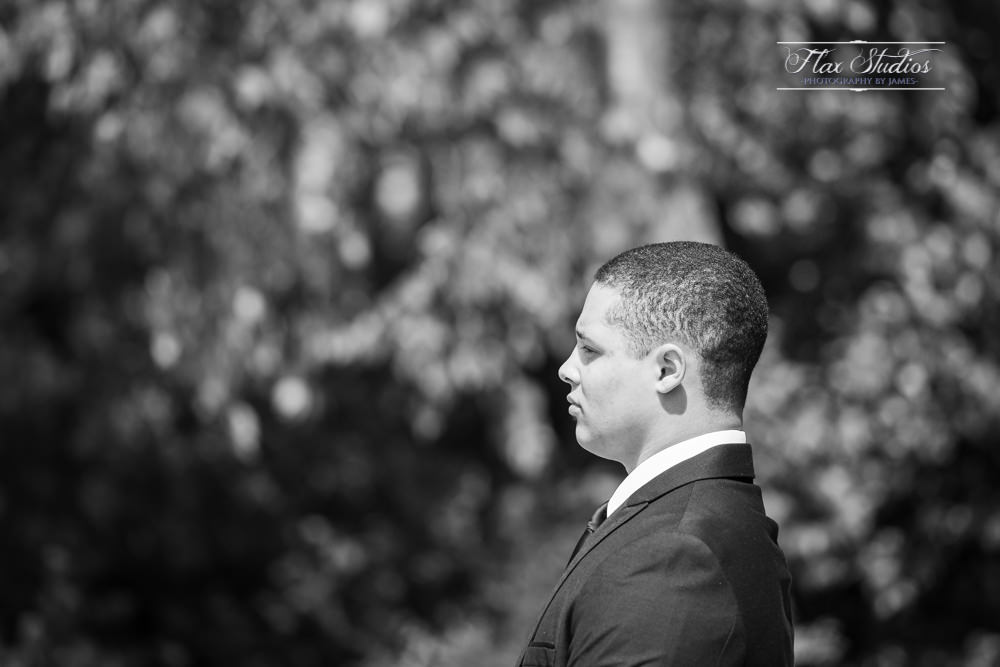 black and white grooms portraits