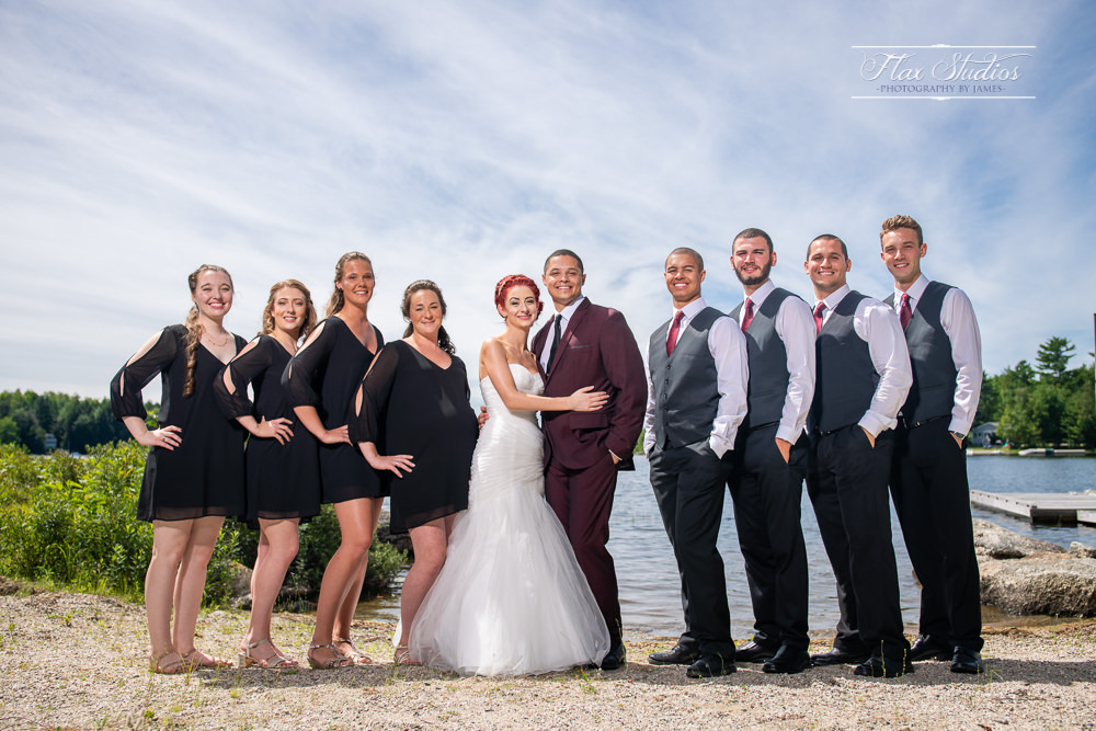 lakeside bridal party photos flax studios