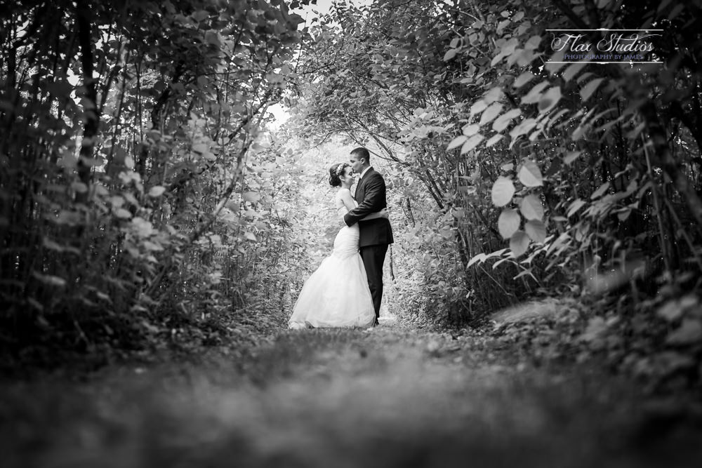 romantic black and white wedding images