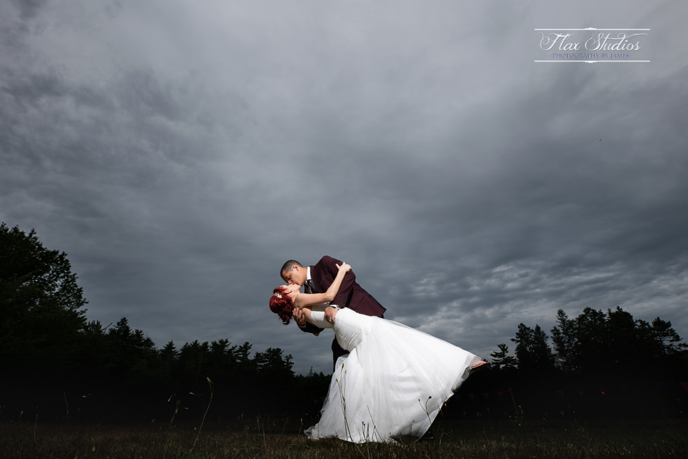 dramatic off camera wedding lighting flax studios