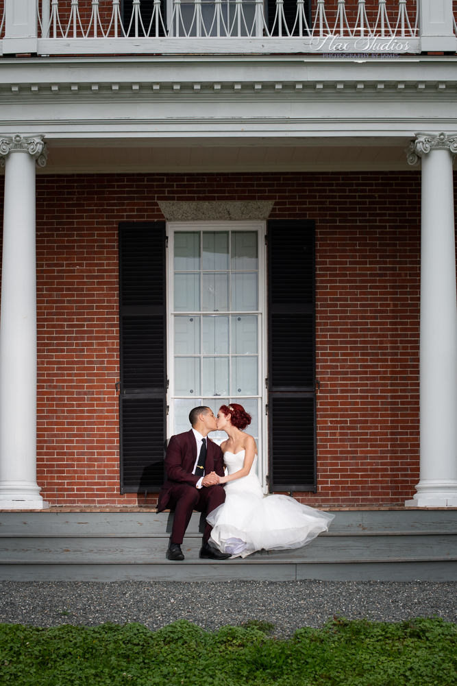 classic brick wedding photos