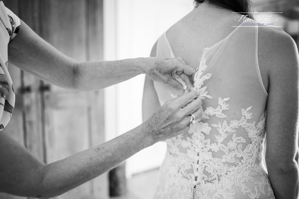 how to button up a wedding dress