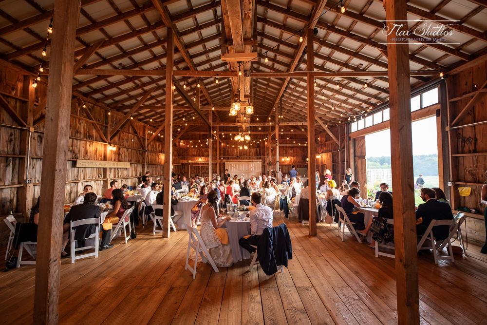 Inside the Harmony Hill Barn in Warren, Maine