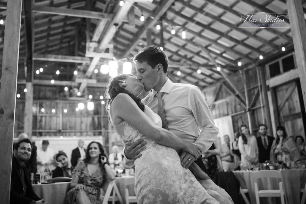 Dance dip for a kiss