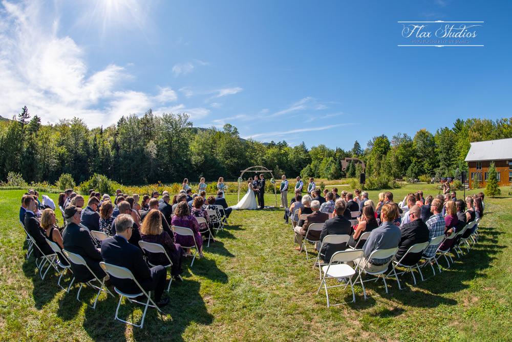 Outdoor newry Maine wedding ceremony site