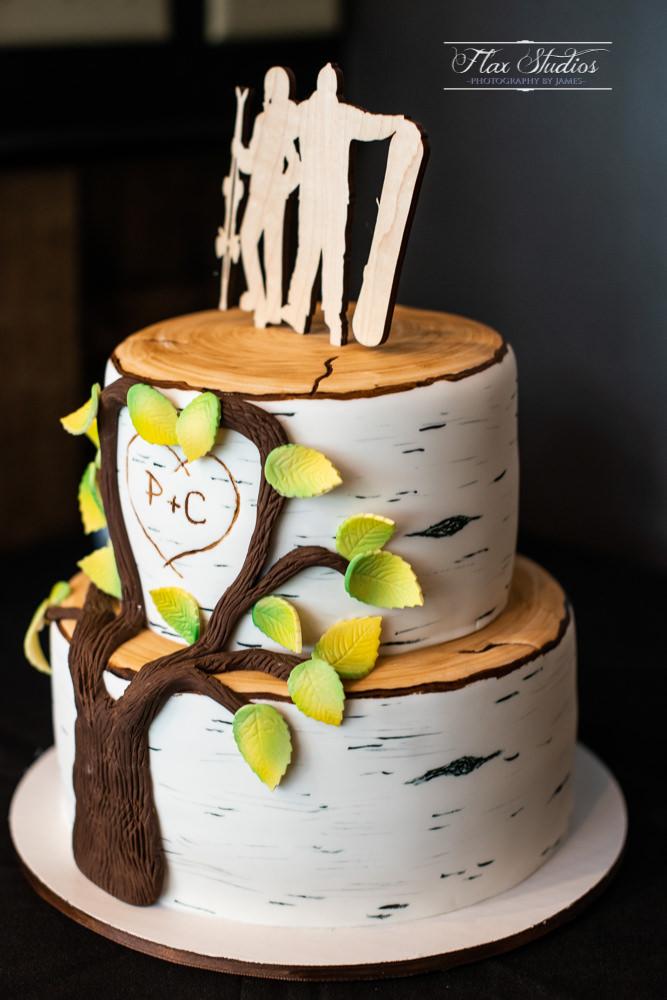 Birch Tree wedding cake designs