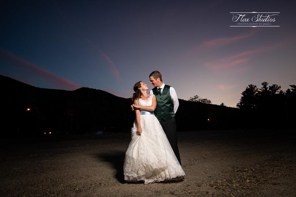 Off camera sunset lighting flax studios