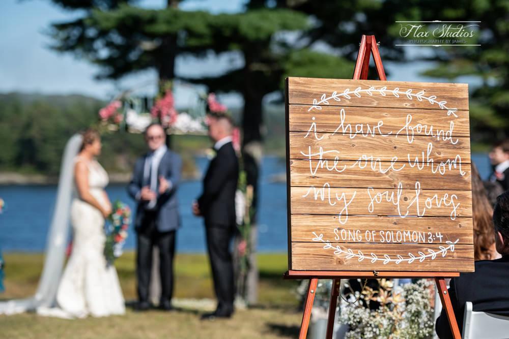song of solomon 3:4 wedding signage