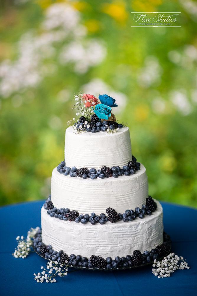 Maine blueberry wedding cake