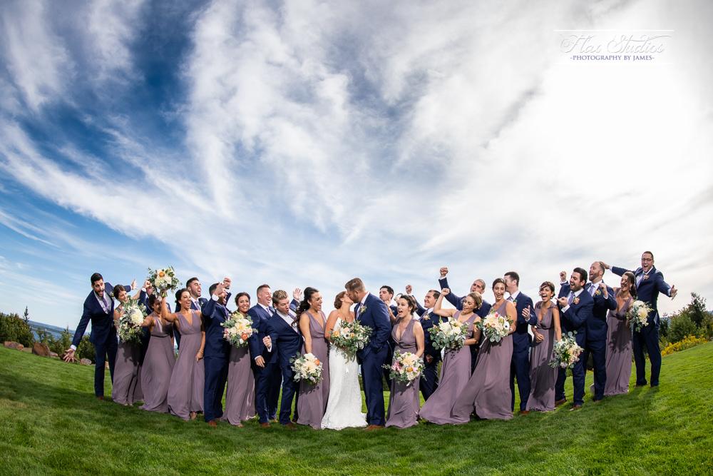 Fisheye wedding party photos Nikon 8-15mm