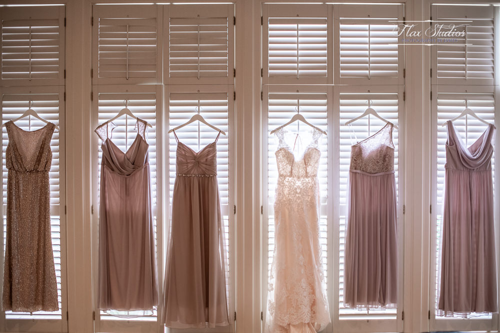how to hang a wedding dress