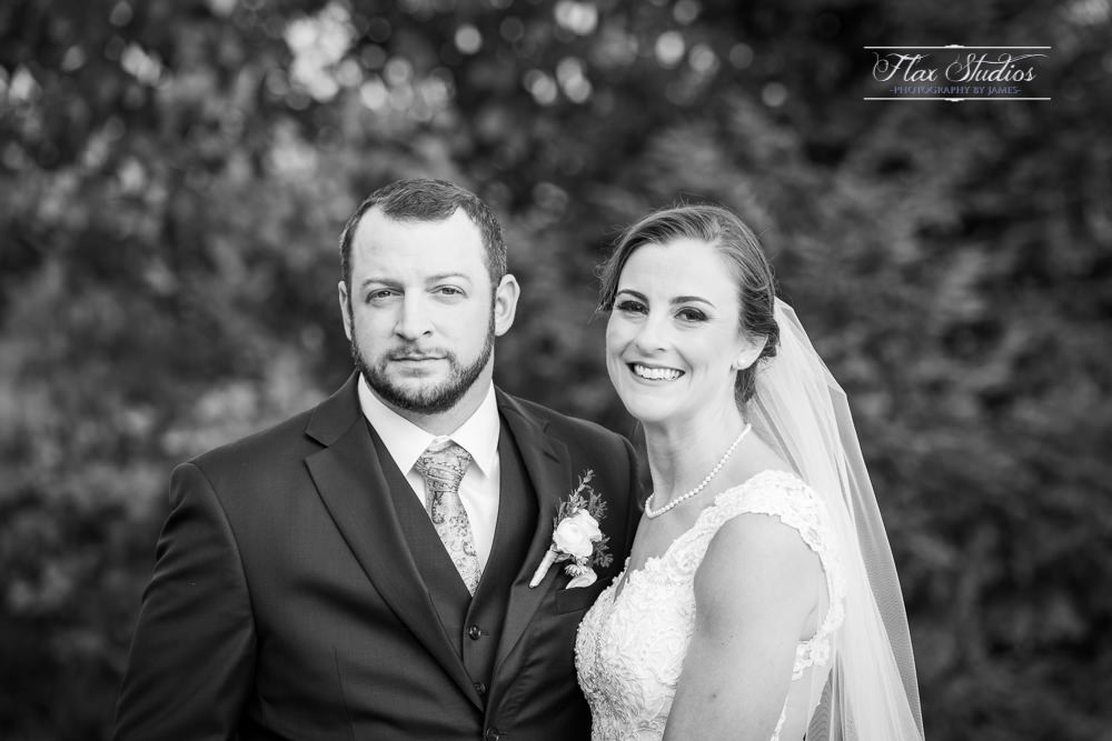 Black and white wedding photographers in maine