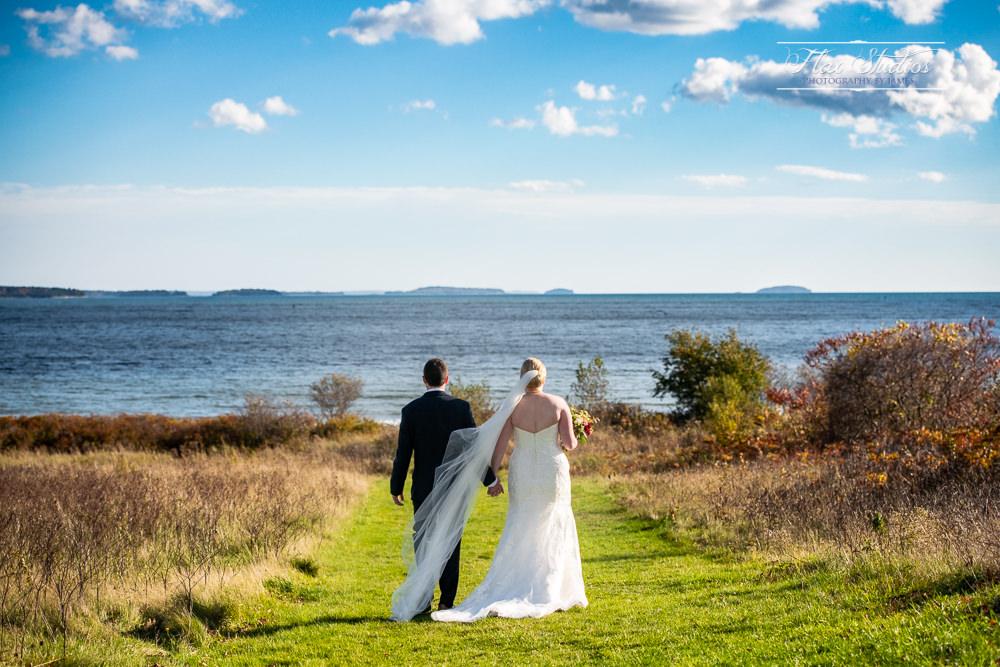 Maine beach wedding flax studios