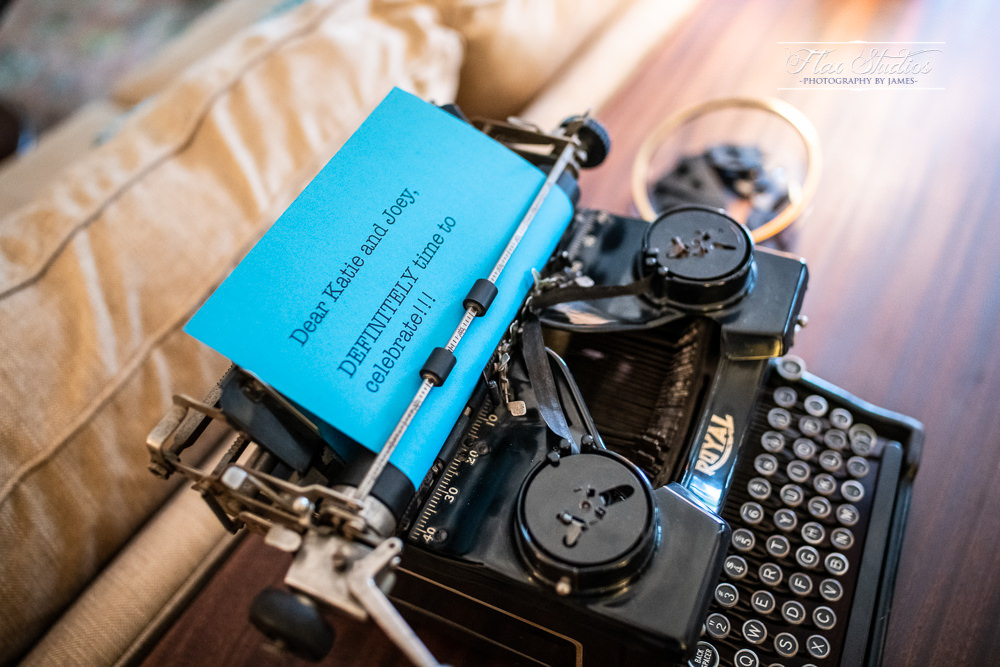 old typewriter for a wedding