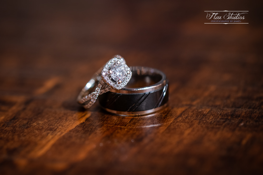 Wedding rings up close