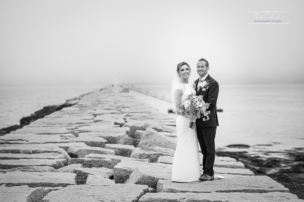 Rockland Breakwater Lighthouse Wedding Photos