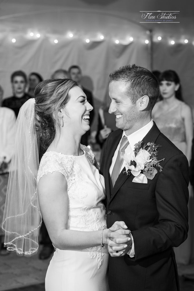 Samoset Wedding First Dance Photos in Black and White