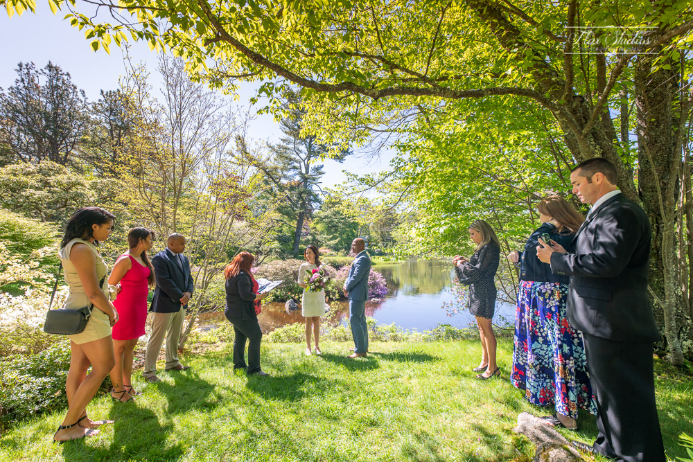 Asticou Garden Wedding Ceremony