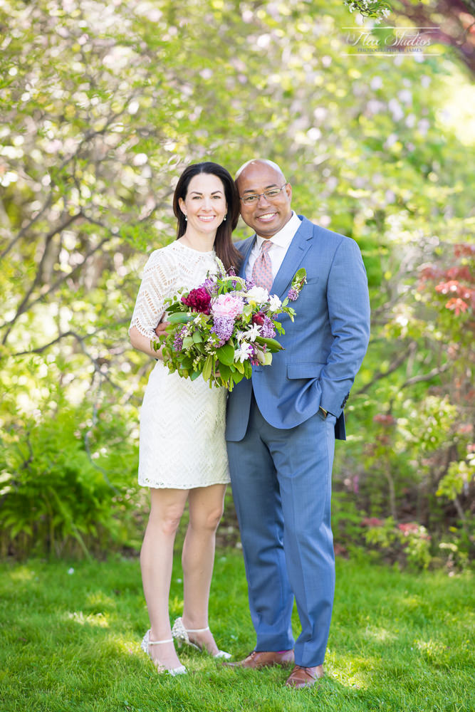 Asticou Azalea Gardens Wedding Portrait