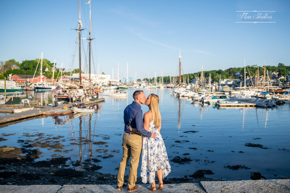 Camden Maine Harbor Engagement
