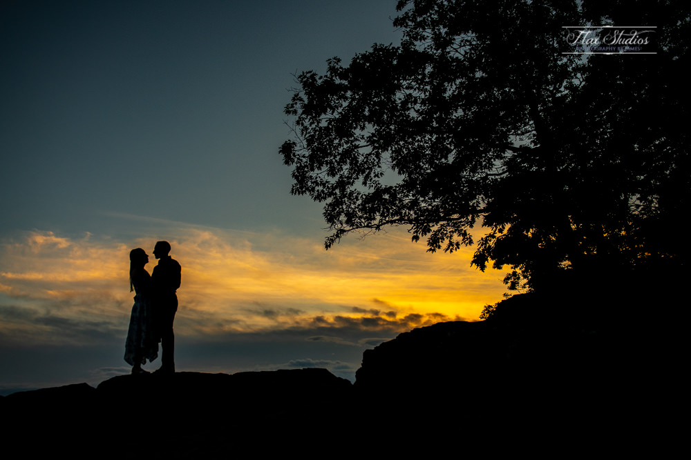 Beauchamp Point Engagement Photo Silhouette
