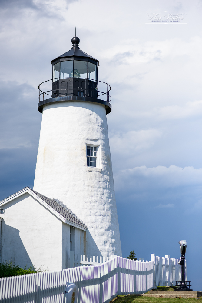 Pemaquid Point Lighthouse with a storm coming