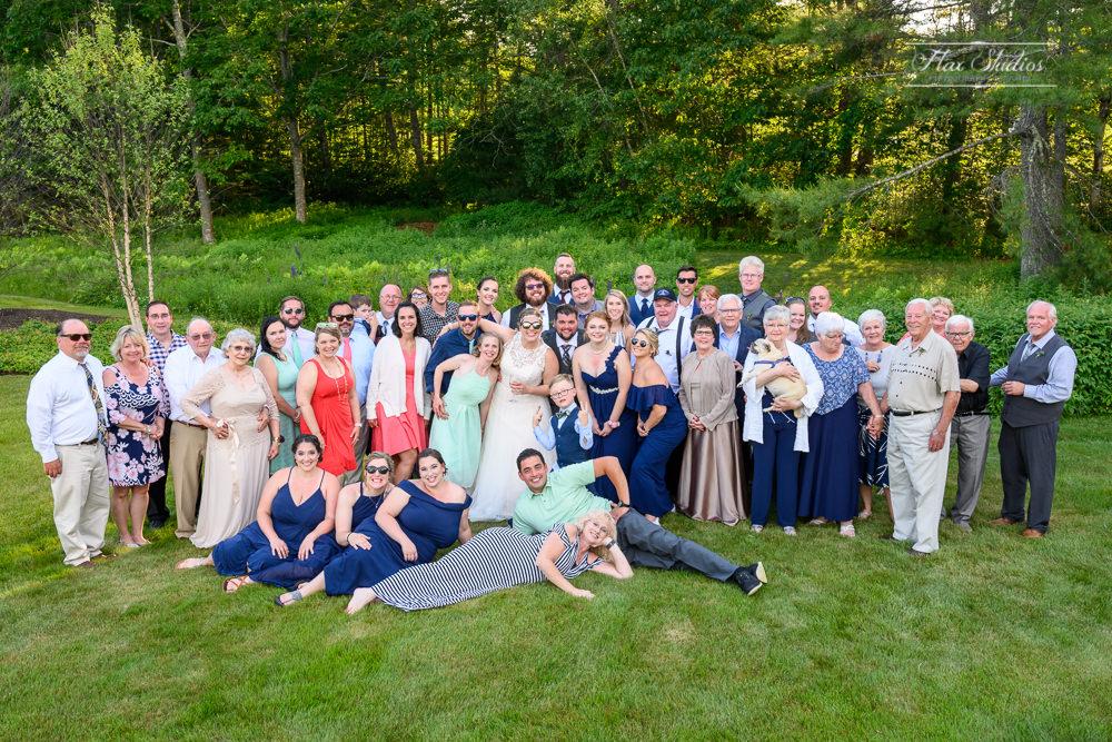 1812 Farm large group wedding photo