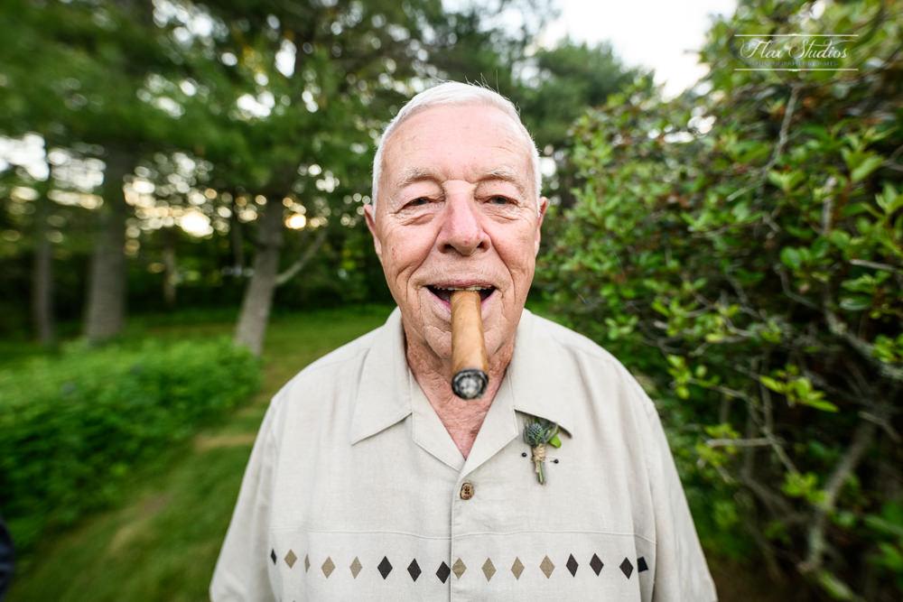 grandfather smoking a cigar