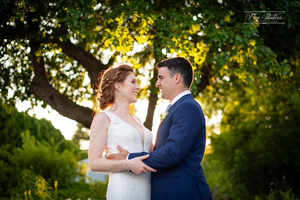 bokeh wedding portrait