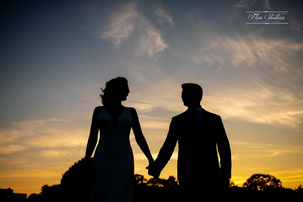 wedding silhouette photo