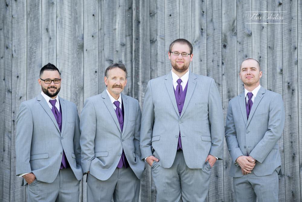 maine barn wedding groomsmen photos