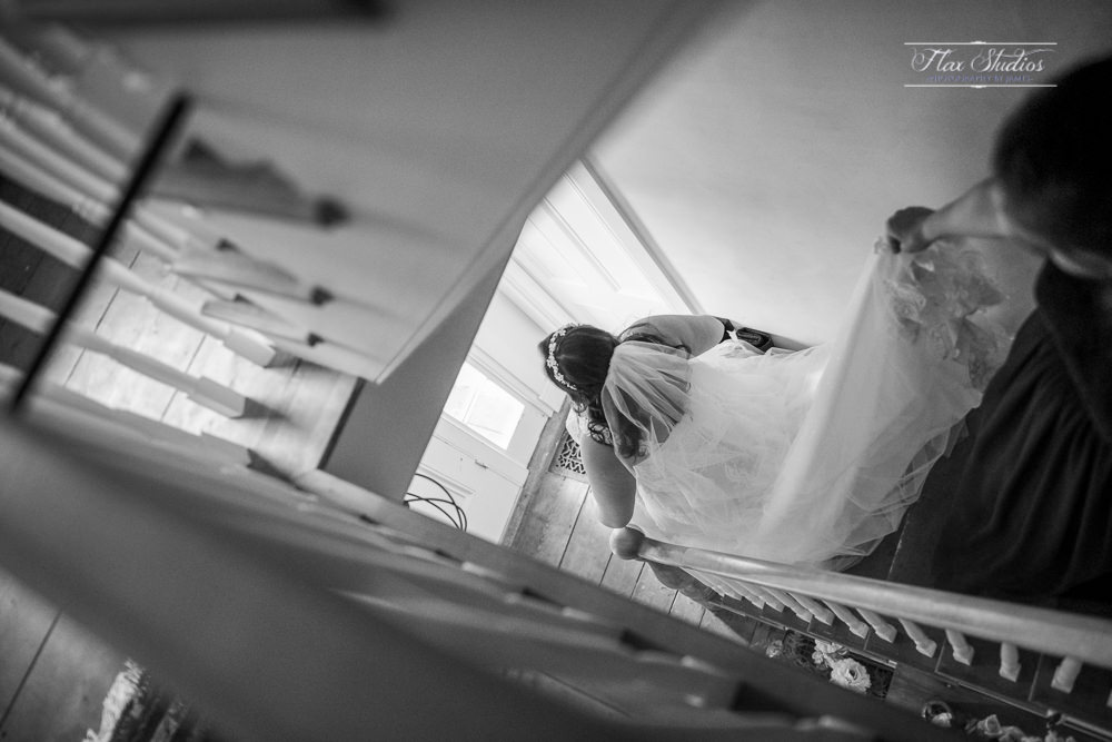 black and white creative wedding angles