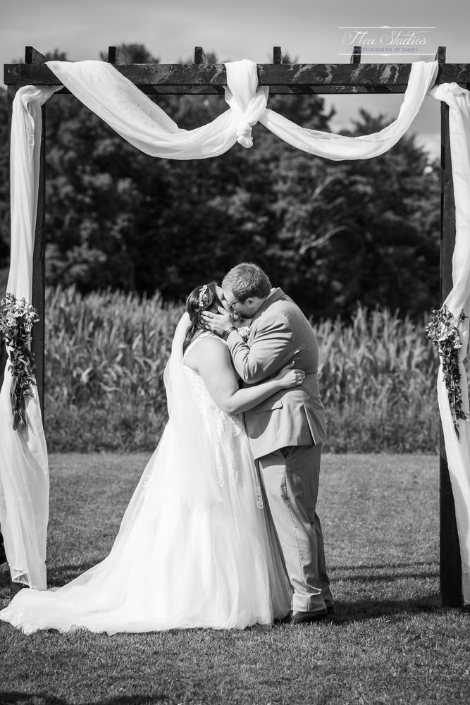 first kiss at the wedding ceremony