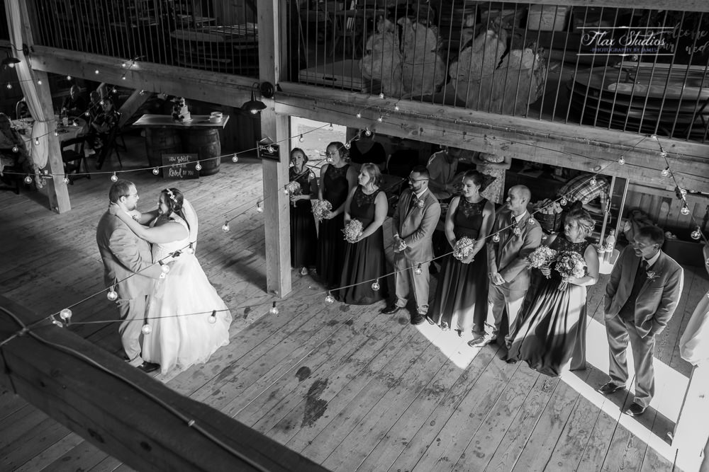 capturing the first dance from a higher vantage point