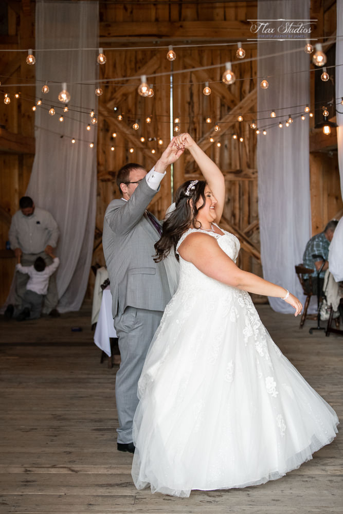 end of the first dance spin