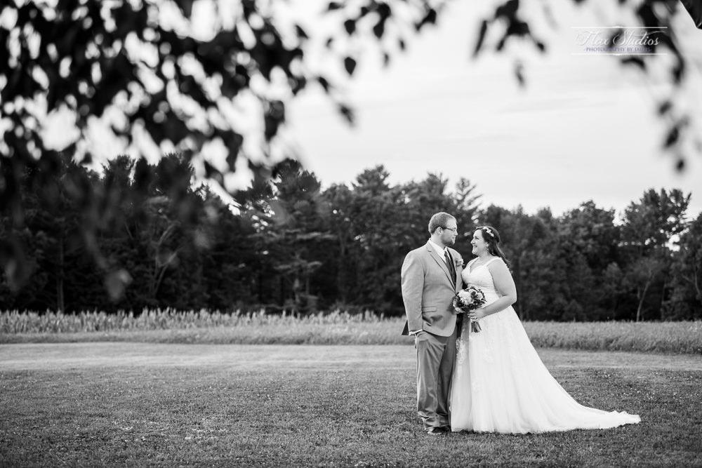 black and white timber hitch farmhouse wedding photo
