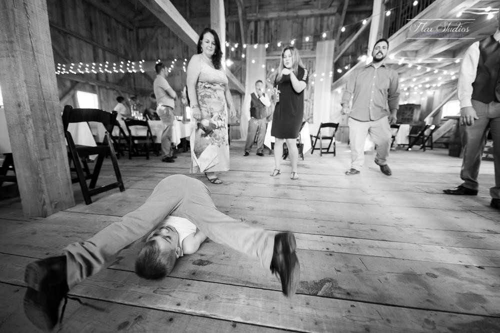 kid going crazy on the dance floor