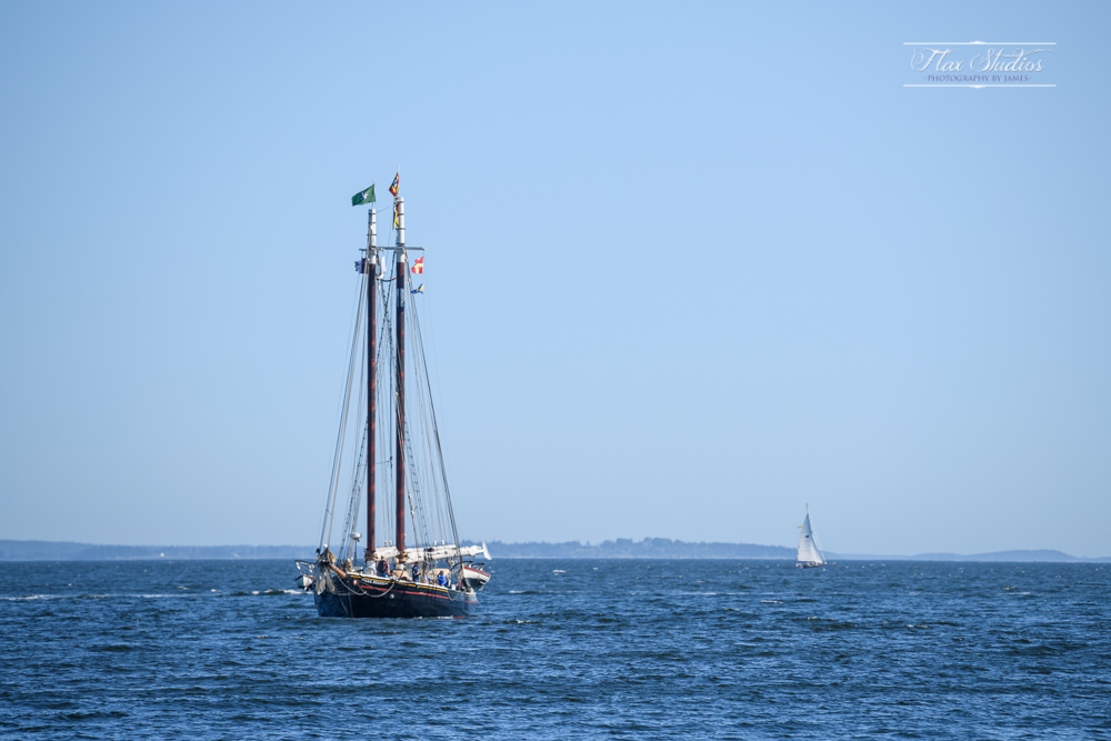 Windjammer Festival on the Camden Harbor in Maine