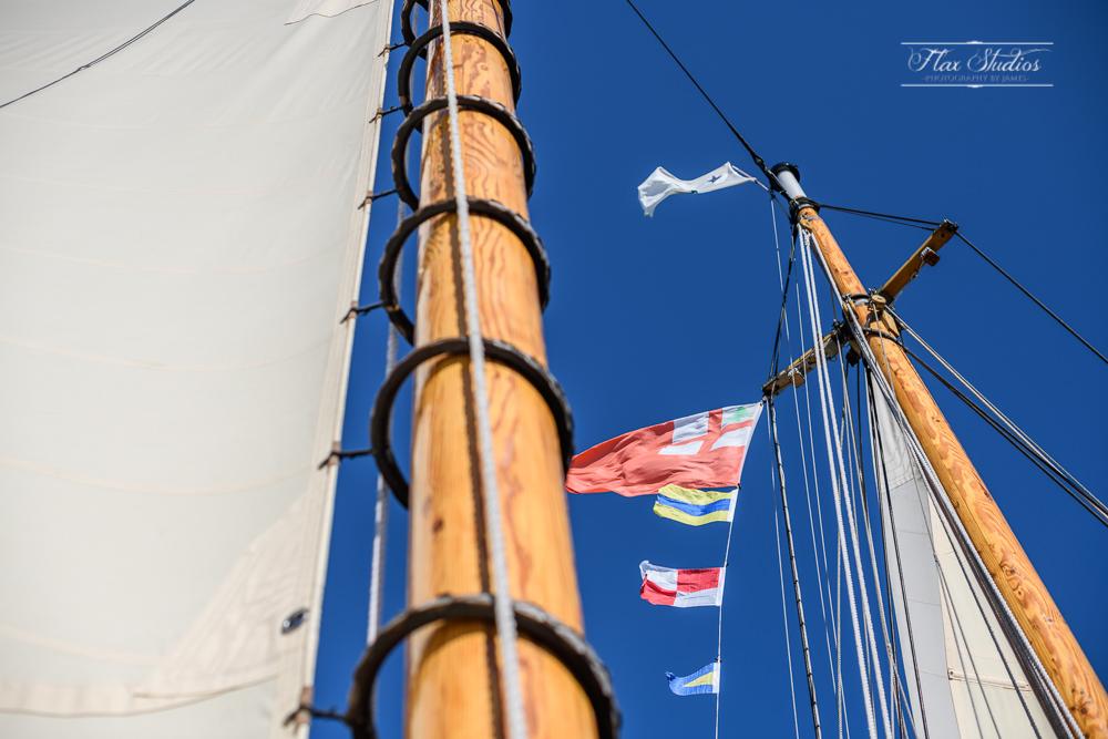 schooner olad wooden masts