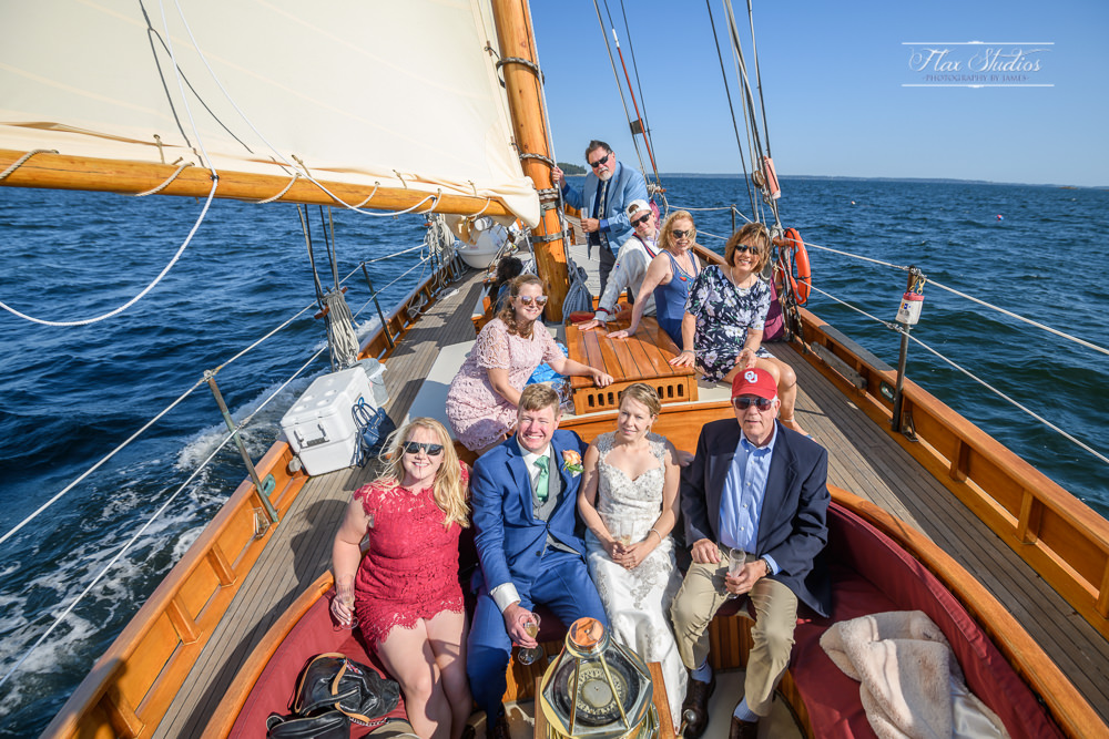 group photo on the schooner olad