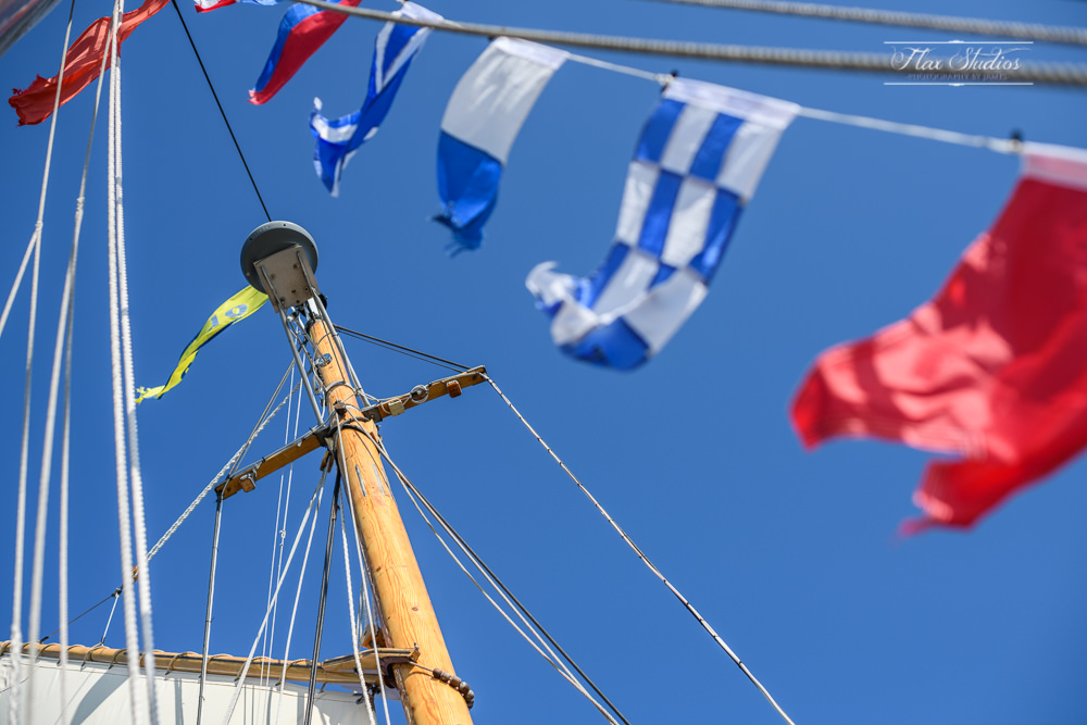 flags on a sailboat